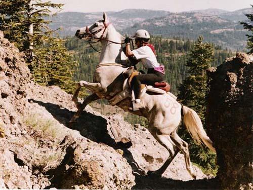 : le passage le plus spectaculaire de la course. On comprend pourquoi le collier de chasse est OBLIGATOIRE.