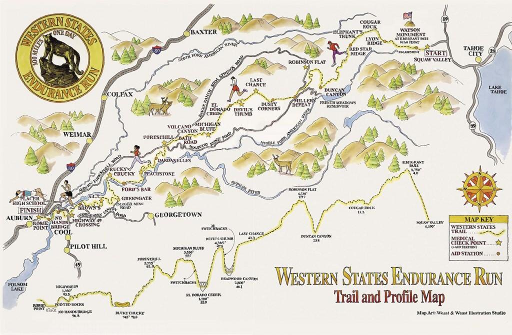 Le parcours de la Western States Endurance Run